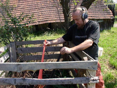 Michael Northam recording the Wd8 compost