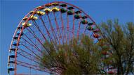 Das Riesenrad in Treptow langweilt sich ohne Gäste