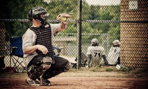 Ein Baseball Fänger