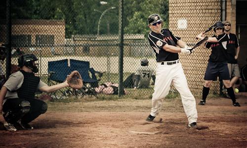 Schläger beim Baseball