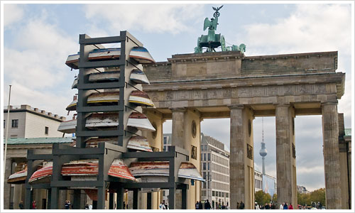 Installation am Brandenburger Tor