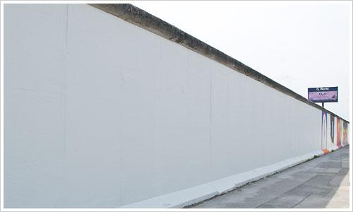 Weiße Leinwand für die Künstler