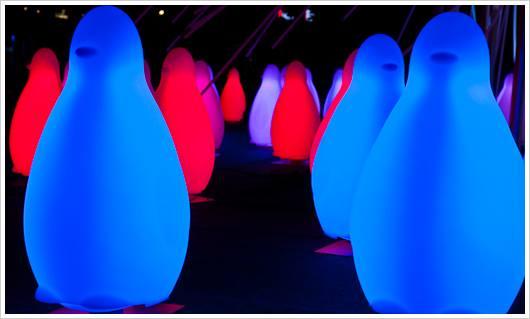 Leuchtende Pinguine