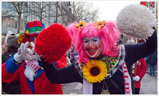 Teilnehmer des Berliner Karnevalsumzuges