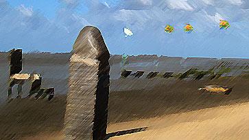 Kunstimpression am Strand von Dangast