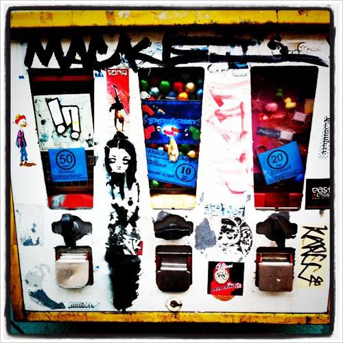 Ein Kaugummiautomat