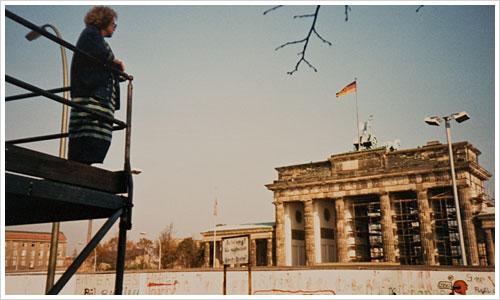 Blick auf das Brandenburger Tor 1986