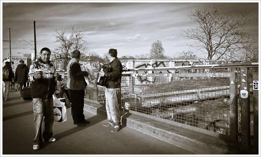 Musikanten auf der Warschauer Brücke