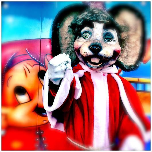 Eine Mausfigur als Nikolaus