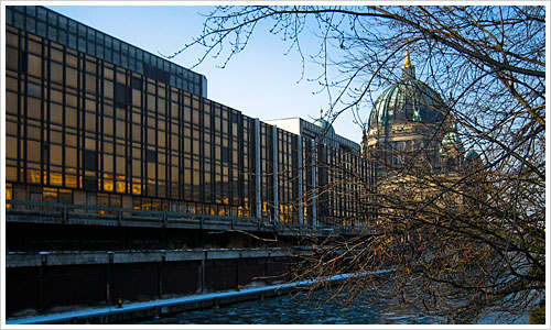 Der Palast der Republik im Januer 2006
