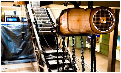 Ausbau einer Rolltreppe