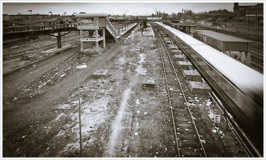 S-Bahn Ausfahrt an der Warschauer Brücke