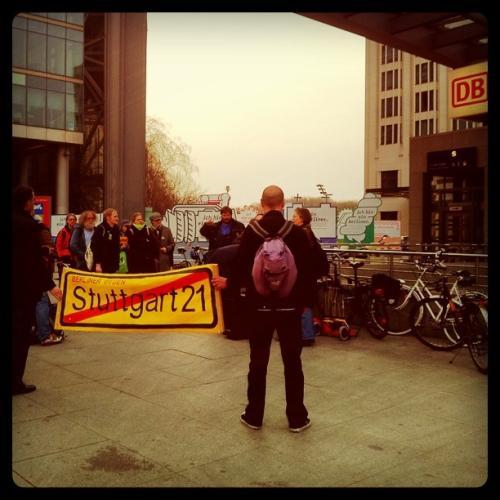 Demonstranten gegen Stuttgart 21
