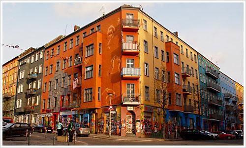 Ein buntes Haus in Berlin