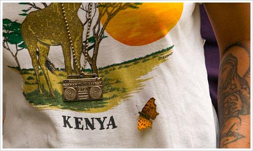 Schmetterling auf einem T-Shirt