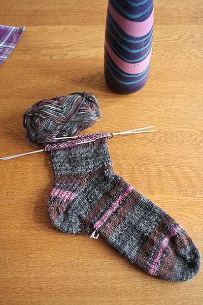 Socken aus Aldi-Wolle
