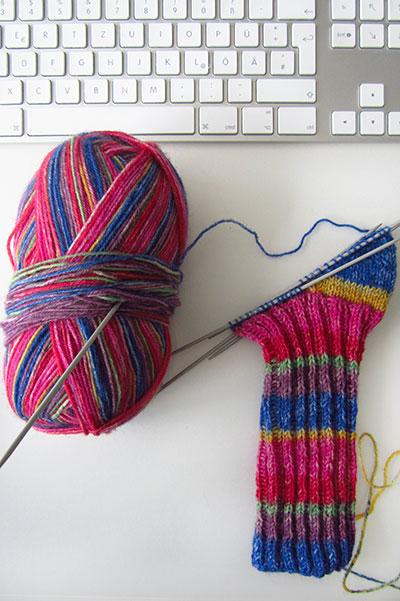 Socken aus Rellana Wolle